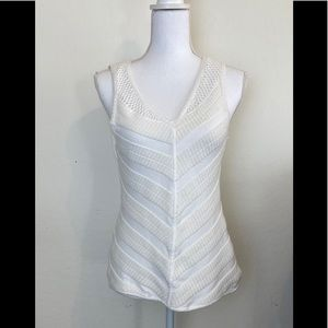 Moth cream light sweater tank Medium